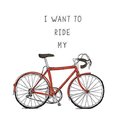 bicycle red vector image