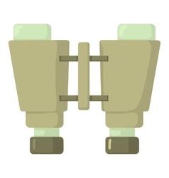 Binocular icon cartoon style vector image