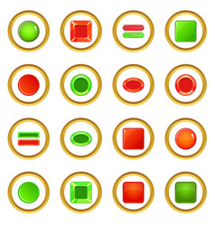 Blank web buttons icons circle vector