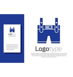 Blue lederhosen icon isolated on white background vector