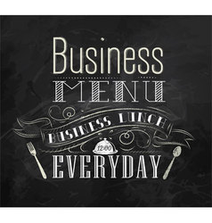 Business lunch chalk menu vector image vector image