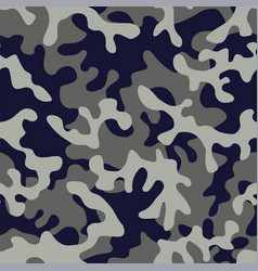 camo military in blue gray color vector image