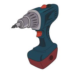 cartoon image of carton power drill vector image