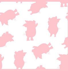 cartoon pigs vector image