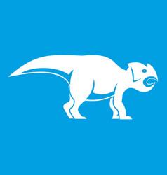 Ceratopsians dinosaur icon white vector