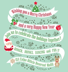 Christmas card design background vector