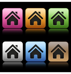 Colorful home icons vector image