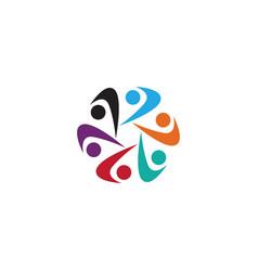 community people organization logo icon template vector image