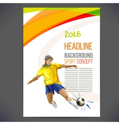 Concept of soccer player with colored geometric vector