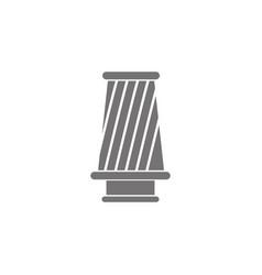 Cone filter icon vector