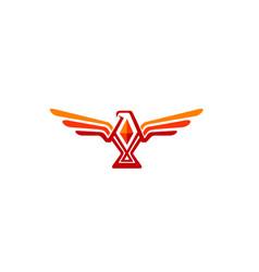 creative abstract eagle logo vector image