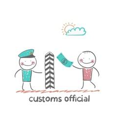 customs officer vector image