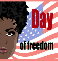 Day of slavery abolition vector