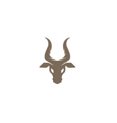 deer head and hind face vector image