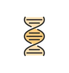 dna molecule flat color line icon vector image
