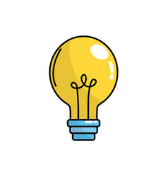 electric bulb light and power energy vector image