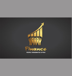 finance people success gold logo graphic vector image