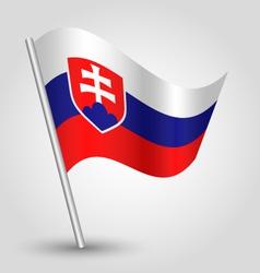 Flag slovakia vector