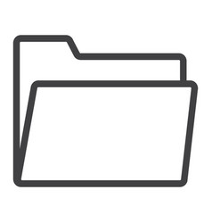 folder line icon web and mobile file sign vector image