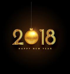golden 2018 happy new year premium background vector image