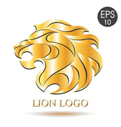 Golden lion logo of lion vector