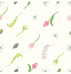 gorgeous seamless pattern with floral elements vector image