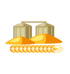 granary with ripe wheat ear vector image