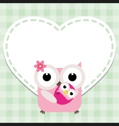Happy mothers day with cute owls vector image