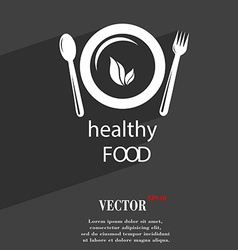 healthy food concept symbol Flat modern web design vector image