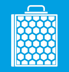 Honeycomb icon white vector