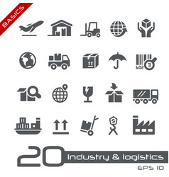 Industry and logistics icons - basics vector