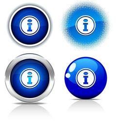 Info buttons vector