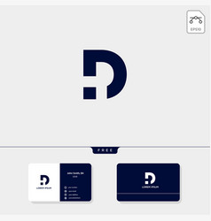 Initial d logo template for technology business vector