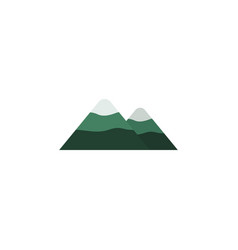 Isolated mountain flat icon peak element vector
