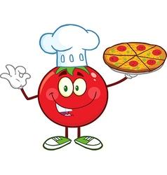 Italian Chef Tomato Cartoon vector