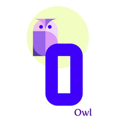 letter o - owl vector image