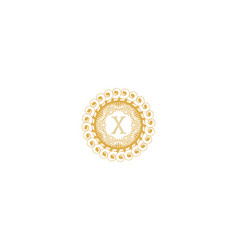 Letter x initial logo for wedding boutique luxury vector