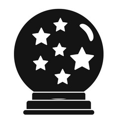 Magic star ball glass icon simple style vector