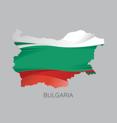 map of bulgaria vector image