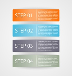Modern colorful infographic Design elements vector image