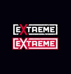 modern professional emblem extreme in black vector image