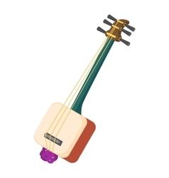 Musical instrument samisen icon cartoon style vector