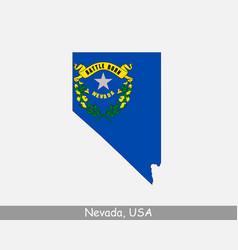 nevada usa map flag vector image