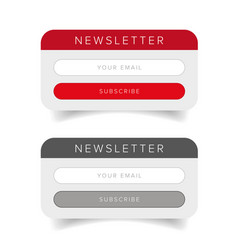Newsletter online form vector