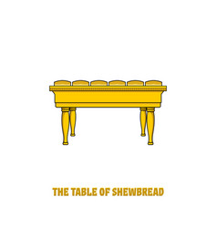 Offer bread table in tabernacle and temple vector
