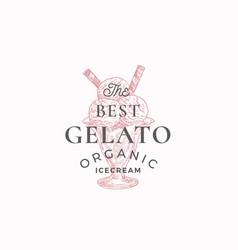organic gelato abstract sign symbol or logo vector image