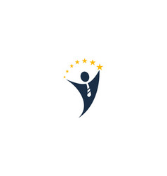 people job logo icon design vector image