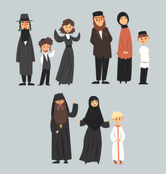 People of different religions in traditional vector