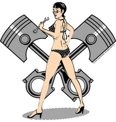 Piston girl vector image