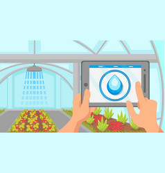 plants watering remote control system vector image